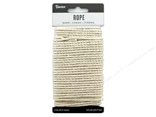 beading & jewelry making supplies: Darice Cord Cotton Rope 3 mm x 15 yd Ivory