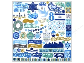 stickers: Photo Play Hanukkah Sticker Element 12 in. x 12 in. (12 pieces)