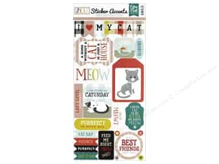 scrapbooking & paper crafts: Echo Park Collection Cat Sticker 6 in. x 12 in. (15 pieces)