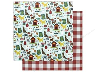 Echo Park Collection Dog Paper 12 in. x 12 in.  Dog Friends (15 pieces)