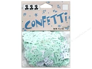 Darice Confetti Pack Its A Boy Mint/White .5 oz