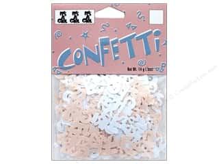 craft & hobbies: Darice Confetti Pack It's A Girl .5 oz.