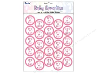 stickers: Darice Sticker Its A Girl Clear Seal 50 pc