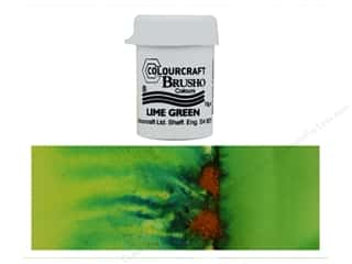 craft & hobbies: Colourcraft Brusho Crystal Colour 15 gr Lime Green