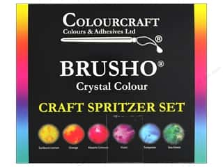 craft & hobbies: Colourcraft Brusho Crystal Colours - Craft Spritzer Set