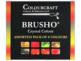 scrapbooking & paper crafts: Colourcraft Brusho Crystal Colours -   Assorted Set of 8