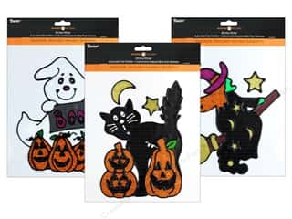 craft & hobbies: Darice Sticker Window Halloween 3 Assorted