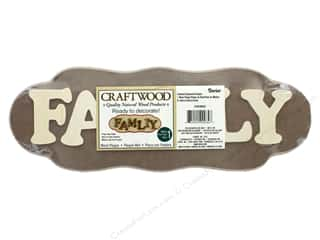 Darice Wood Craftwood MDF Plaque Family