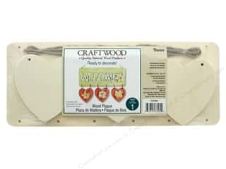craft & hobbies: Darice Wood Craftwood Plaque With 3 Hanging Hearts