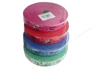 Darice Party Ticket Roll Admit One Assortment 2000 pc