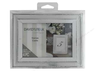 "Wood Photo Frame: Darice Decor Frames 3.5""x 5"" Whitewash 4 pc"