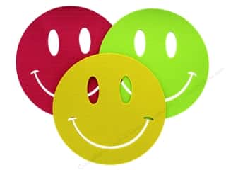 Darice Felt Base Smiley Assorted Raspberry/Yellow/Green