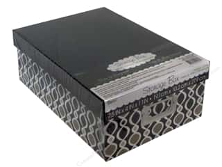 Darice Storage Photo Box 7.5 in. x 4 in. x 11 in. Globe White/Grey/Black