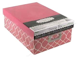 Darice Storage Photo Box  7.5 in. x 4 in. x 11 in.  Modern Pink
