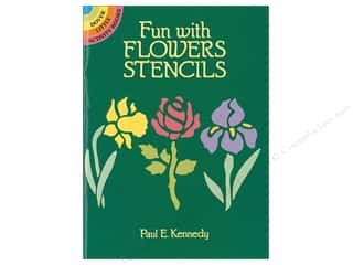 craft & hobbies: Dover Publications Little Fun With Flowers Stencils Book