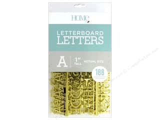 DieCuts With A View Letterboard Letters 1 in.  Gold 188 pc