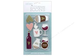 scrapbooking & paper crafts: DieCuts With A View With A View Collection Letterboard Icons Coffee and Wine