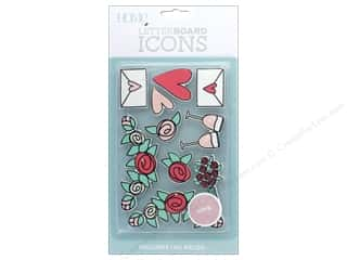 resin: DieCuts With A View With A View Collection Letterboard Icons Love
