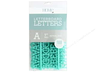 DieCuts With A View Letterboard Letters 1 in.  Teal 188 pc