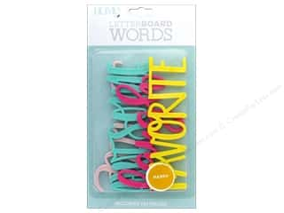 scrapbooking & paper crafts: DieCuts With A View With A View Collection Letterboard Words Happy
