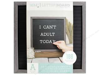 projects & kits: DieCuts With A View Letterboard Frame 12 in. x 12 in. With 1 in. Letters Gray/Black