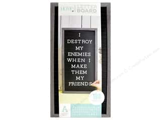 projects & kits: DieCuts With A View Letterboard Frame 10 in. x 20 in. With 1 in. Letters Gray/Black