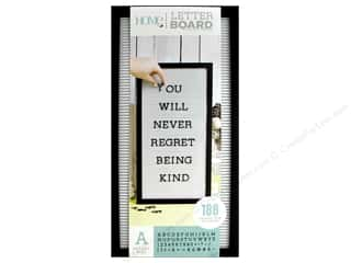 scrapbooking & paper crafts: DieCuts With A View Letterboard Frame 10 in. x 20 in. With 1 in. Letters Black/White