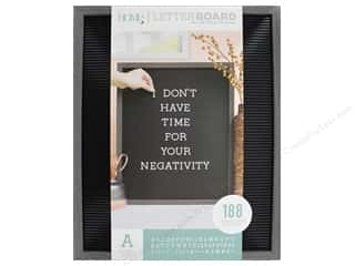 DieCuts With A View Letterboard Frame 16 in. x 20 in. With 1 in. Letters Gray/Black