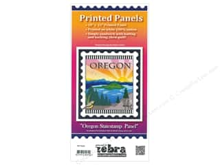 Zebra Patterns Printed Fabric Panel 18 x 21 in. Oregon