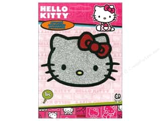 C&D Visionary Applique Hello Kitty Head Glitter