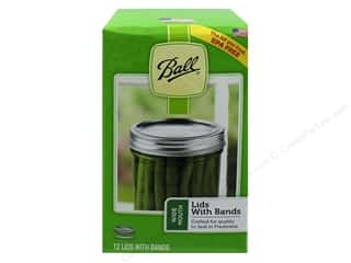 Ball Jar Lid/Band Wide Mouth Silver 12 pc