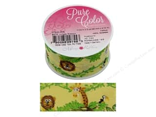 ribbon: Morex Ribbon Jungle 1.5 in. x 3 yd Yellow