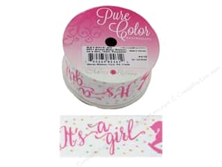Morex Ribbon Satin Sweet Baby 1.5 in. x 3 yd It's A Girl