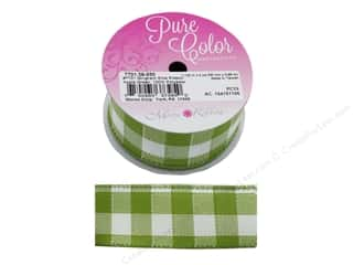 Morex Ribbon Gingham Elite 1.5 in. x 4 yd Apple Green