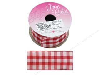 Morex Ribbon Gingham 1.5 in. x 3 yd Red