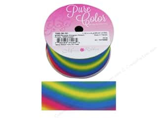 Morex Ribbon Grosgrain Rainbow 1.5 in. x 3 yd Primary