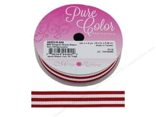 Morex Ribbon Grosgrain Stripes 5/8 in. x 6 yd Red/White