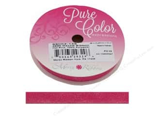 Morex Ribbon Dazzle 3/8 in. x 8 yd Hot Pink