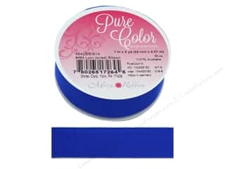 craft & hobbies: Morex Lyon Wire Ribbon 1 in. x 5 yd. Blue
