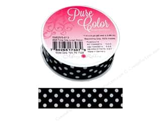 gifts & giftwrap: Morex Ribbon Wire Polka Dots 1 in. x 4 yd Black
