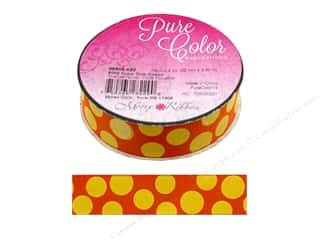 Morex Ribbon Sugar Dots 7/8 in. x 4 yd Orange/Yellow