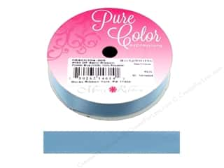 ribbon: Morex Ribbon Double Faced Satin 5/8 in. x 10 yd Powder Blue