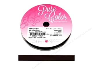 Morex Ribbon Double Faced Satin 1.5 in. x 5 yd: Morex Ribbon Double Faced Satin 3/8 in. x 15 yd Chocolate