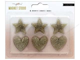 resin: Crate Paper Maggie Holmes Magnet Studio Magnet Glitter Hearts and Stars