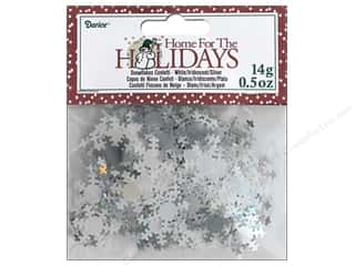 Darice Party Holiday Confetti Pack Snowflake White .5 oz