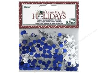 Darice Confetti Pack Dots and Snowflakes .5 oz. Blue & Silver