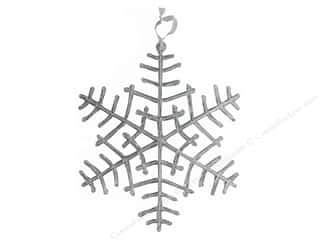 novelties: Darice Holiday Hanging Snowflake Plastic 14 in.