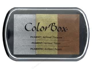 ColorBox Pigment Ink Pad 3 Color Metallic Treasure