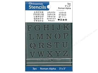 PA Essentials Stencil 3 in. x 3 in. Roman Alpha 3 pc