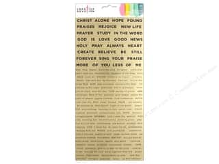 stickers: American Crafts Creative Devotion Sticker 6 in. x 12 in. Phrase